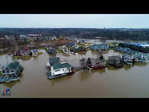 Saint Joseph, MI & Benton Harbor, MI flooding February 23, 2018