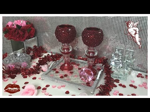 DIY - DOLLAR CANDLE HOLDERS - ❤️ RUBY RED ❤️ CRUSHED GLASS #BLINGQUEEN