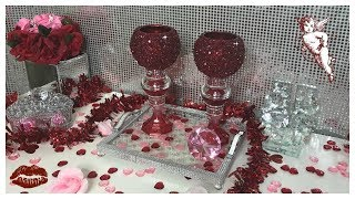 DIY - DOLLAR CANDLE HOLDERS - �� RUBY RED �� CRUSHED GLASS #BLINGQUEEN