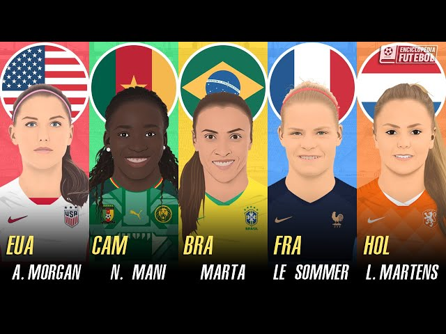 A MELHOR JOGADORA de cada SELEÇÃO   Copa do Mundo de Futebol Feminino 2019