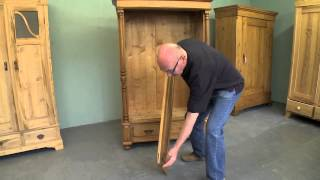 Collapsible Knock Down Pine Wardrobe Assembly Demonstration Video