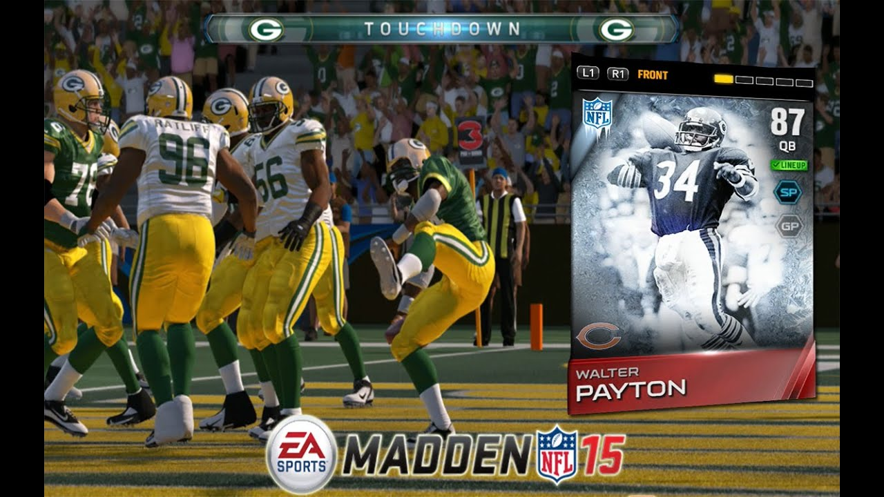 Madden 15 ultimate team 87 overall qb walter payton debut gameplay mut 15 youtube - Walter payton madden 15 ...