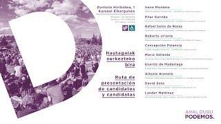 Acto de presentación de candidatos y candidatas en Donosti. #ElkarrekinDonostia