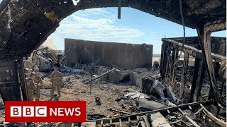 Inside a US air base attacked by Iranian missiles - BBC News