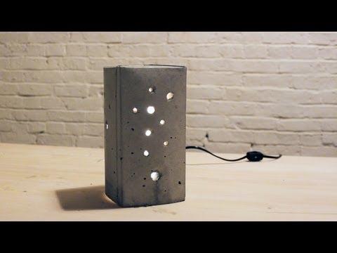 HomeMade Modern, Episode 6 -- DIY Concrete Lamp