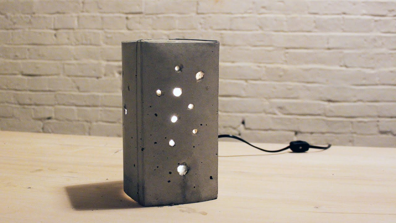 Attractive HomeMade Modern, Episode 6    DIY Concrete Lamp   YouTube