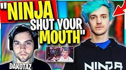 Ninja and Dakotaz Just Got WAY Worse. DK Tells Ninja to STAY in His Lane