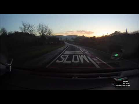 A FROSTY MORNING DRIVE TO TAUNTON TOWARDS THE SUNRISE
