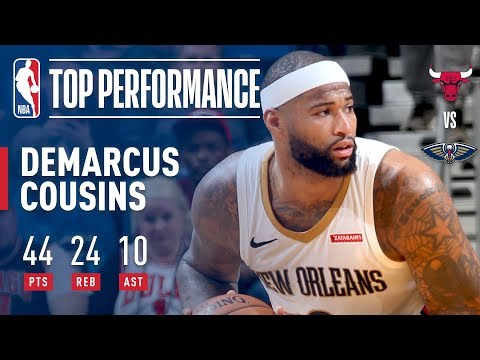 DeMarcus Cousins Gets BIG Triple-Double (44/24/10) in 2OT Victory | January  22, 2018 - YouTube