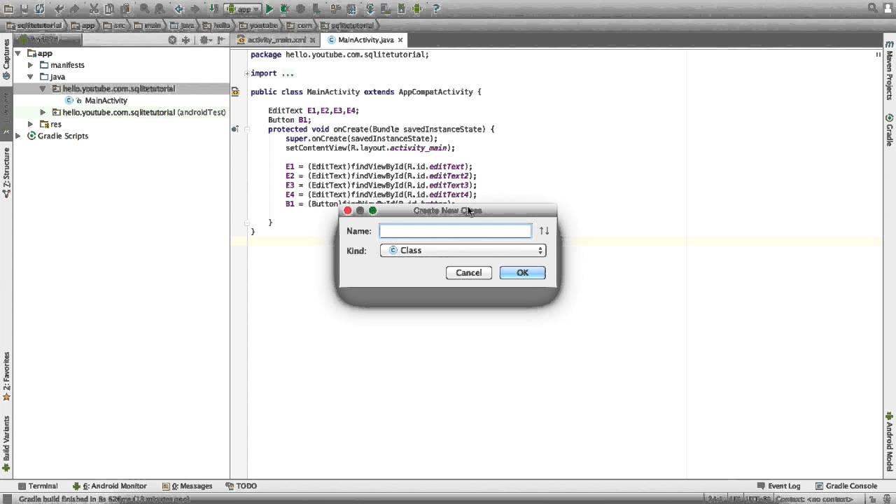Bangla Android Tutorial 18: SQLite Database Tutorial (Insert Data)