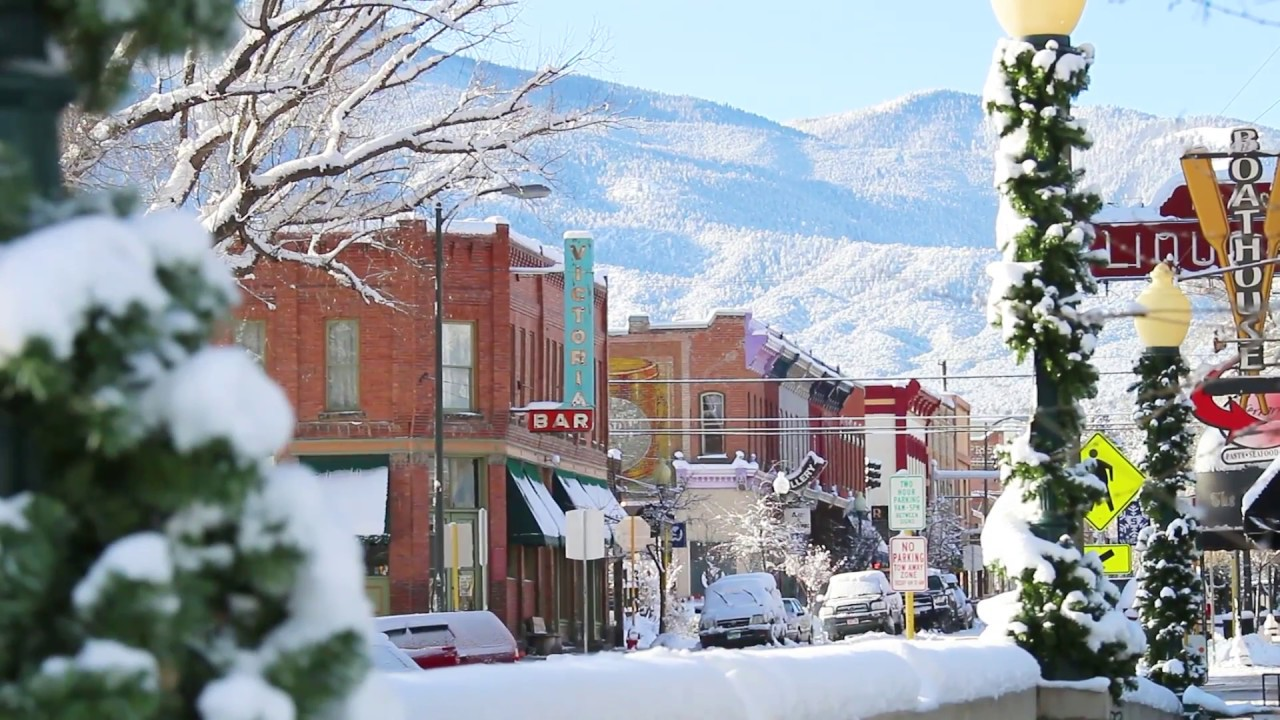 Christmas In Colorado Mountains.Christmas Mountain Salida Colorado