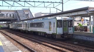 【磐越西線】快速あがの キハ110-216,キハ110-213,キハ110-202新津発車