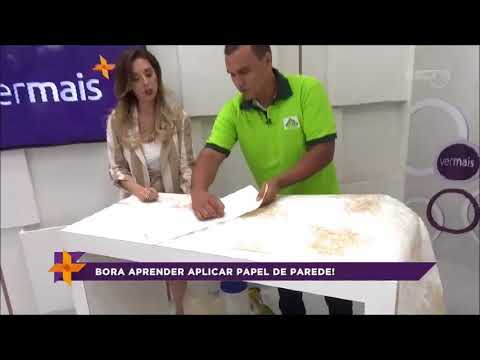 Aprenda a aplicar papel de parede