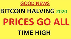 Bitcoin Halving 2020 Prices Go All Time High