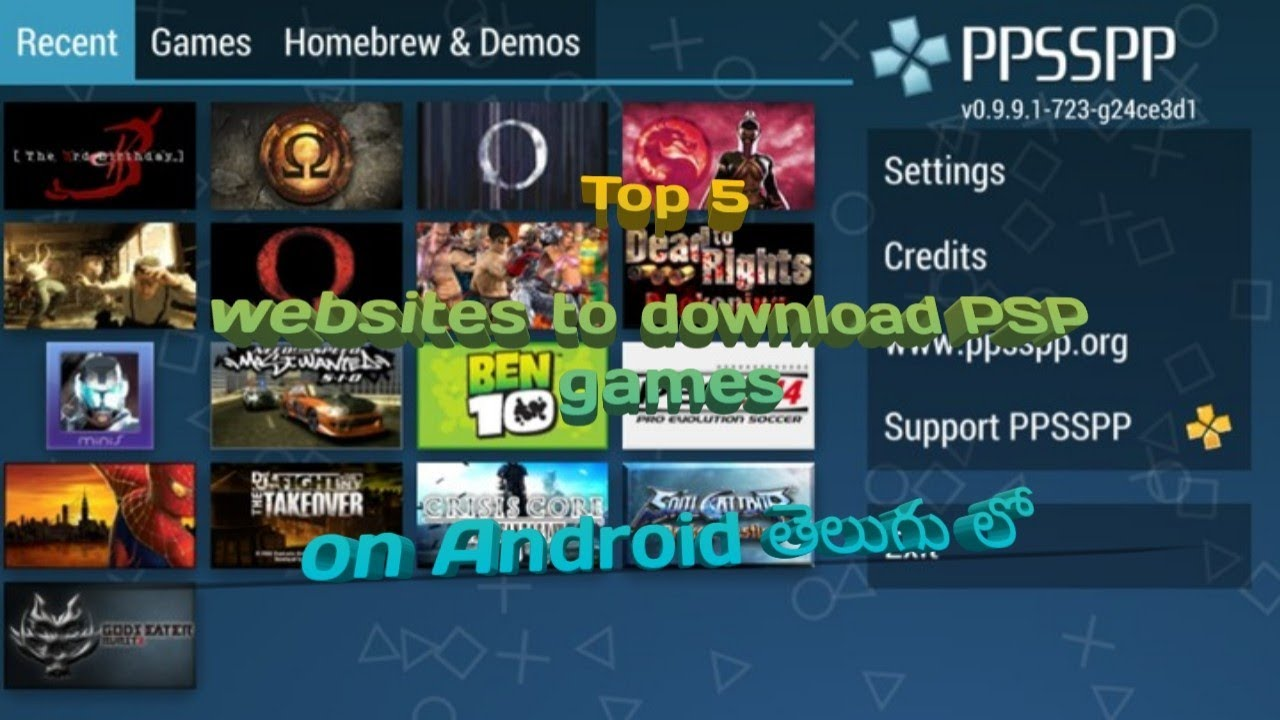 website for downloading ppsspp games for android