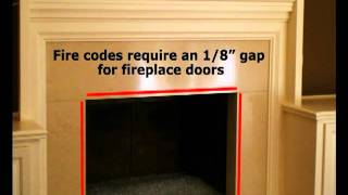 Custom Fireplace Glass Doors - Brickanew