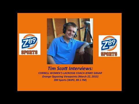 Tim Scott Interviews: Cornell Women's Lacrosse Coach Jenny Graap (3-22-2015)