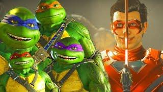 INJUSTICE 2 - NINJA TURTLES vs ROBIN Intro DIALOGUES (The Savage Knight)