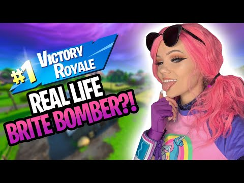 REAL LIFE BRITE BOMBER PLAYS FORTNITE?!.. | JUSTFOXII