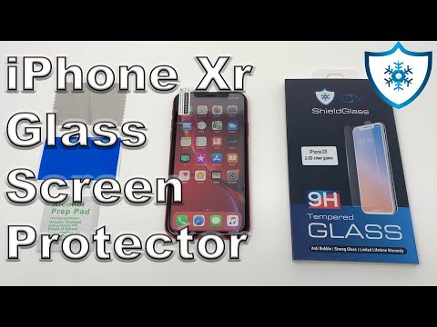 iPhone Xr Tempered Glass Screen Protector | Icy Shield Glass | How To Install