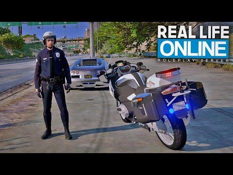 POLIZEIKONTROLLE AUF DEM MOTORRAD! - GTA 5 Real Life Online
