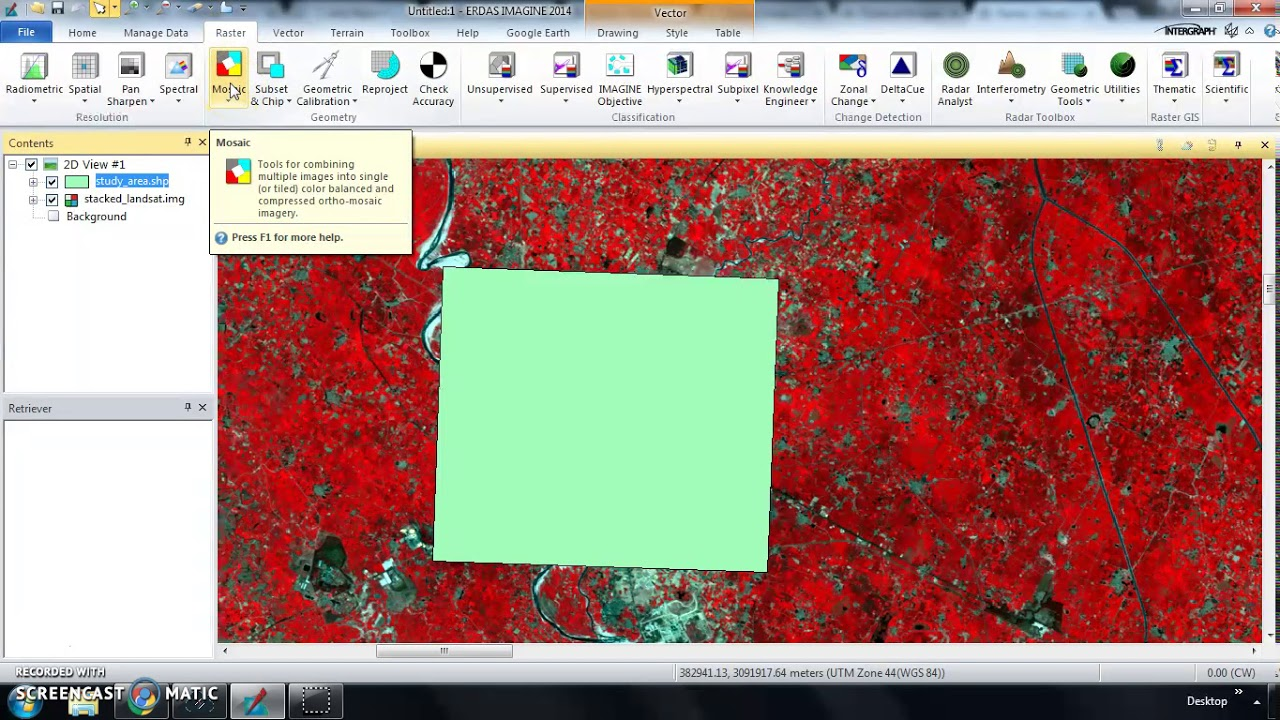 How to Subset and Clip Raster Image through Shapefile in Erdas Imagine  software