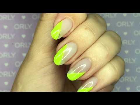 ORLY Neon Green Geometric Tips Nail Art Tutorial thumbnail