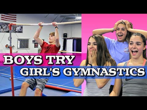 Boys Try Girl's Gymnastics!