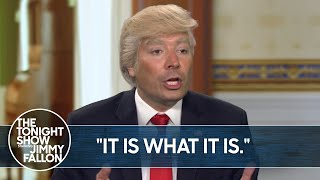 Trump's Train Wreck Interview With Jonathan Swan On Hbo | Thetonightshow