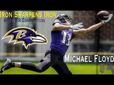Ravens Sign Michael Floyd    Baltimore Ravens Film Session   