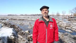 Weiser River ice jam forces flood water into homes and farmland