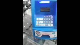 Celengan anak ATM Karakter Hello kitty pooh doraemon kartu besar IG: navaro_shop