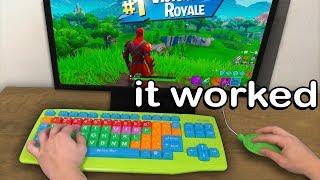 I Tried A Keyboard For Kids And Won - Fortnite