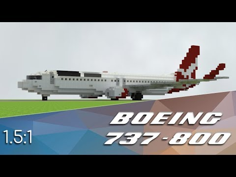 1.5:1 Boeing 737-800 | Minecraft