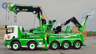 The Most Advanced Tow Trucks you have to see ▶  Knuckle Boom Cranes