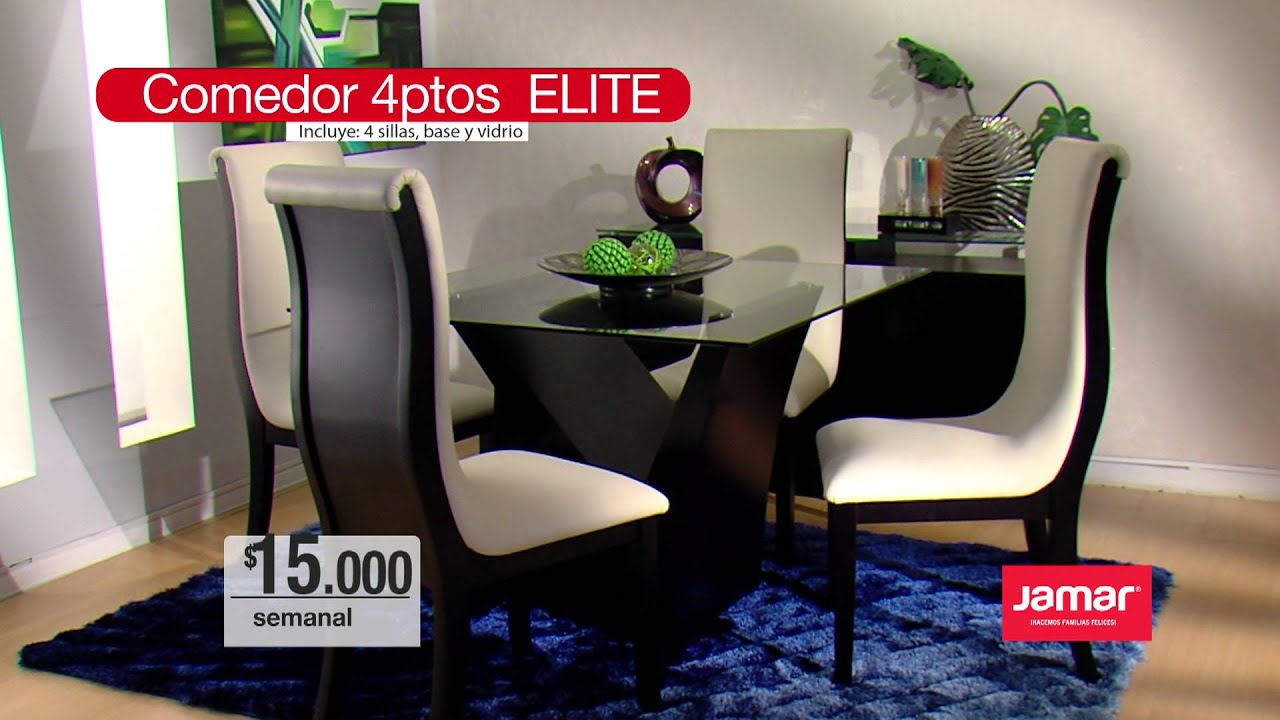 Comedor 4 ptos elite youtube for Mueble jamar