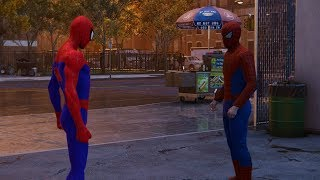 Spider-Man Meets the Fake Spider-Man (Into the Spider-Verse Suit Gameplay) - Marvel's Spider-Man