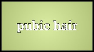 Repeat youtube video Pubic hair Meaning