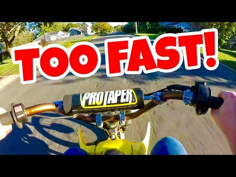 TOP SPEED RUNS ON THE PIT BIKE!