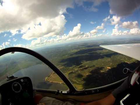 Soaring above Ypacarai lake in Paraguay