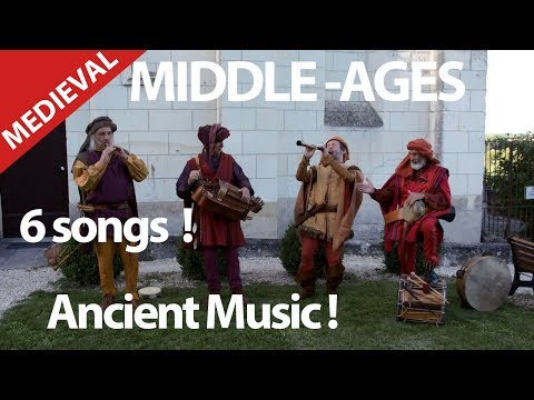 6 MEDIEVAL SONGS. MIDDLE AGES WITH FLUTES, BAGPIPES, LUTH, HURDY GURDY.