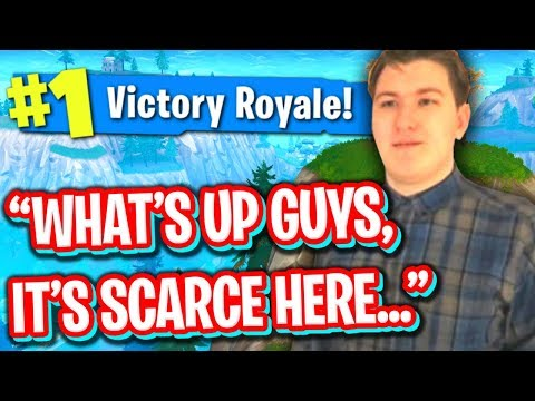 HELPING SCARCE GET HIS FIRST FORTNITE WIN! (WORST FORTNITE PLAYER EVER)