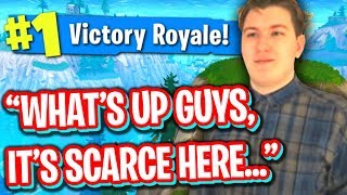 HELPING SCARCE GET HIS FIRST FORTNITE WIN WORST FORTNITE PLAYER EVER