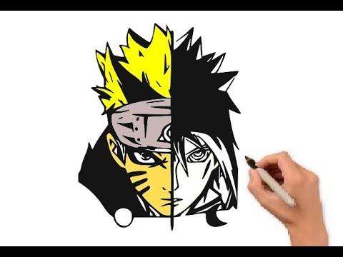 Keren Menggambar Naruto Dan Sasuke Dalam 1 Gambar