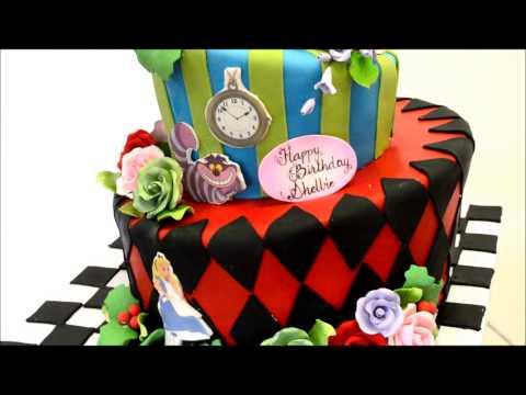 alice-and-wonderland-theme-cake