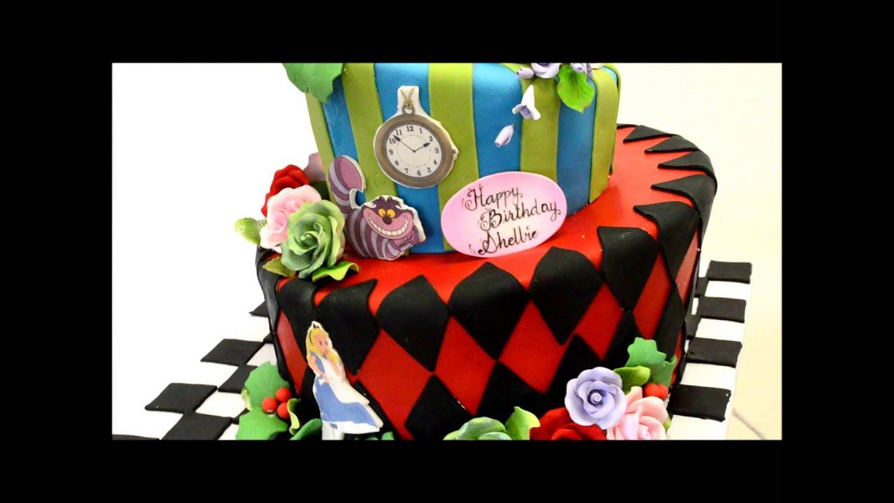 Alice And Wonderland Theme Cake Youtube