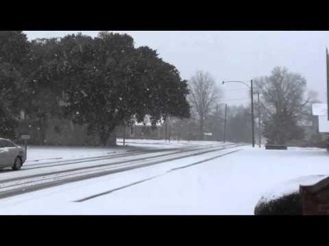 Snow in Texarkana, AR Jan. 2011