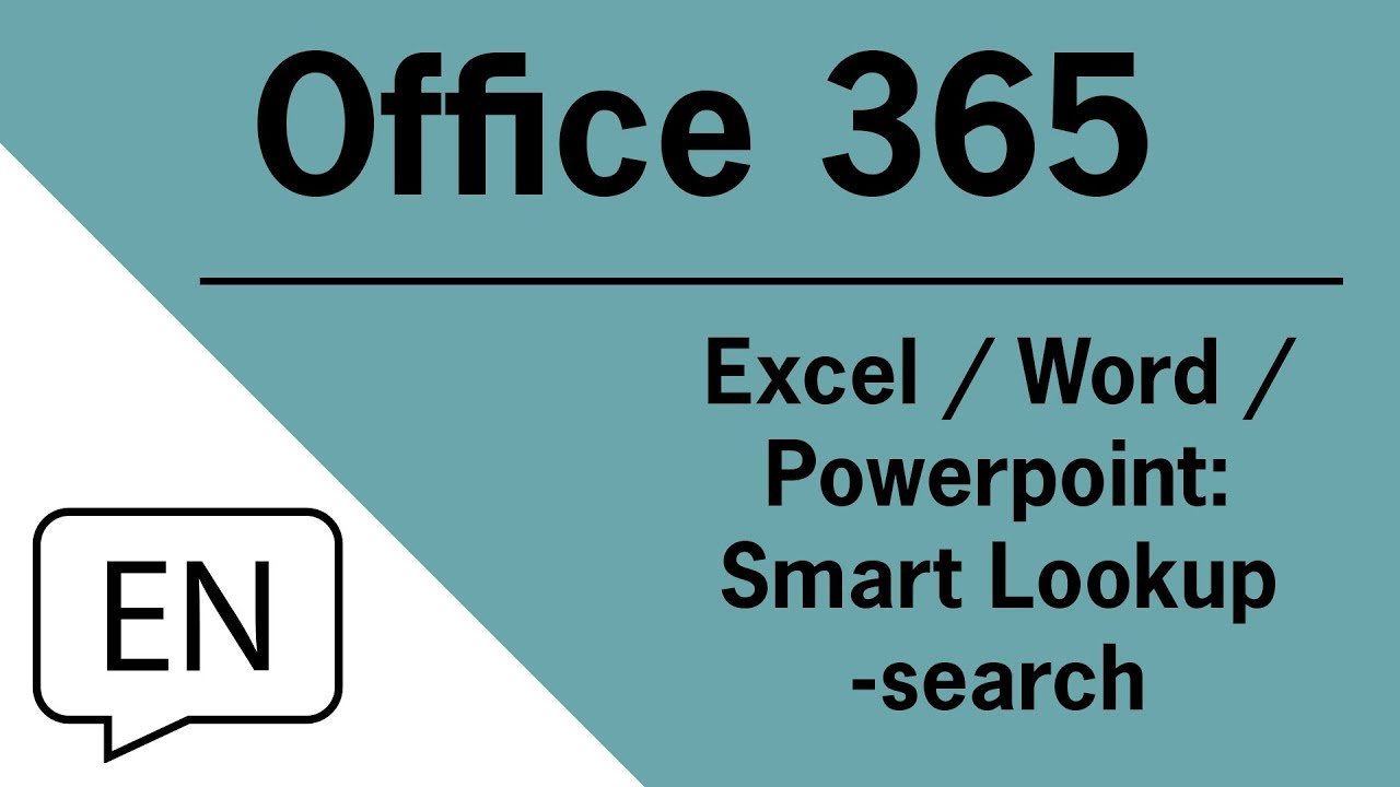 Office 365 Excel Word Powerpoint Smart Lookup Search