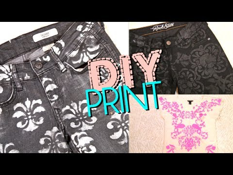 DIY Print Jeans & Top: Brocade & Damask   Styling Ideas at the End!