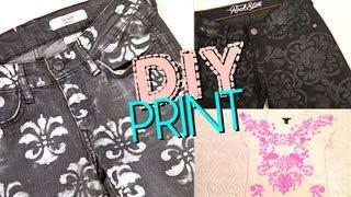 DIY Print Jeans & Top: Brocade & Damask ...